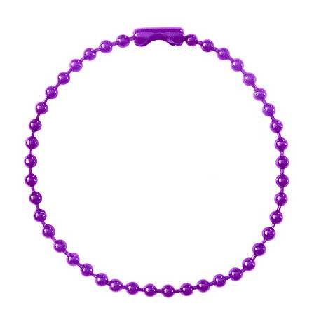カラーボールチェーン紫