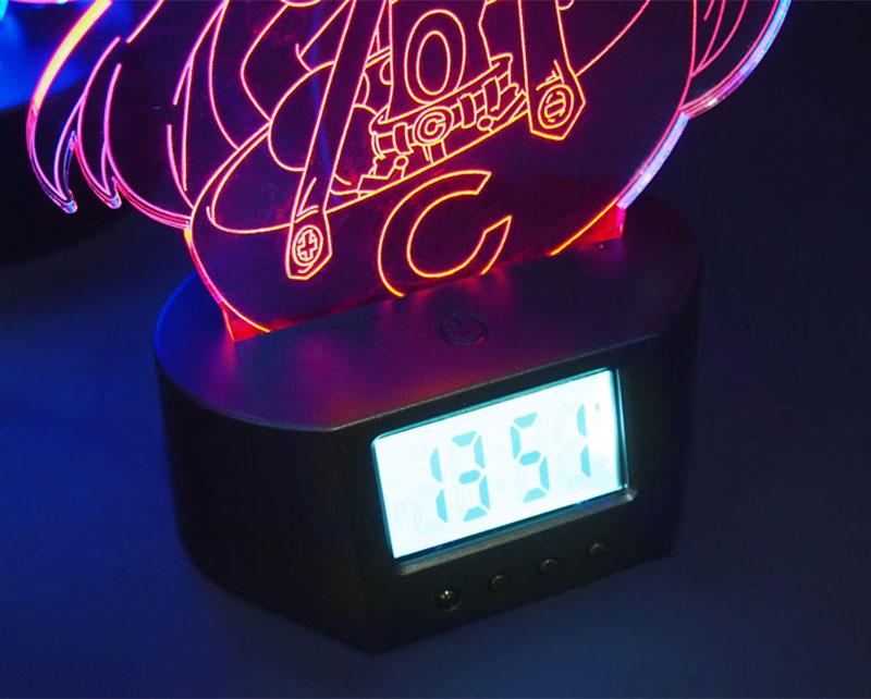 LEDアクリルスタンド台座(アラーム時計付き)